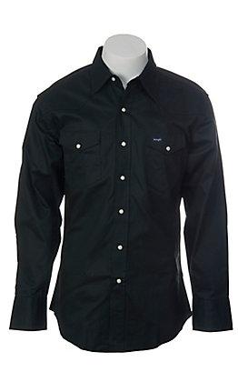 Wrangler Dark Olive Twill Long Sleeve Workshirt