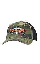 Wrangler Camo & Black with Embroidered Logo Cap