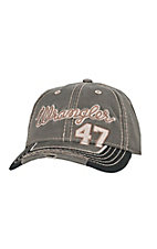 Wrangler Grey & Black 47 Embroidered Logo Mesh Back Cap