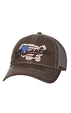 Wrangler Brown American Flag Cap