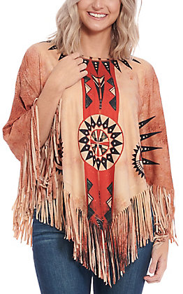 Montana West Women's Tan Mandala Poncho