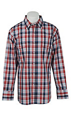 Wrangler Men's Wrinkle Resist Plaid L/S Western Shirt MWR169MX- Big & Talls