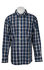 Wrangler Men's Wrinkle Resist Plaid L/S Western Shirt MWR175MX- Big & Talls