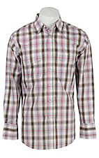 Wrangler Men's Wrinkle Resist Plaid L/S Western Shirt MWR176MX- Big & Talls