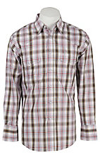 Wrangler Men's Wrinkle Resist Plaid L/S Western Shirt MWR176M