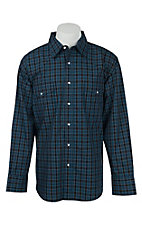 Wrangler Men's Wrinkle Resist Plaid L/S Western Shirt MWR177M