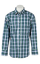 Wrangler Men's Wrinkle Resist Plaid L/S Western Shirt