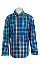 Wrangler Men's Wrinkle Resist Plaid L/S Western Shirt MWR190M