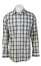 Wrangler Men's Wrinkle Resist Plaid L/S Western Shirt MWR191M