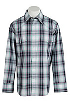 Wrangler Men's Wrinkle Resist Plaid L/S Western Shirt MWR193MX - Big & Tall Sizes