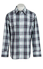 Wrangler Men's Wrinkle Resist Plaid L/S Western Shirt MWR193M