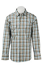 Wrangler Men's Wrinkle Resist Plaid L/S Western Shirt MWR195M