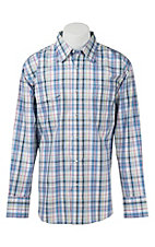 Wrangler Men's Wrinkle Resist Plaid L/S Western Shirt MWR196M