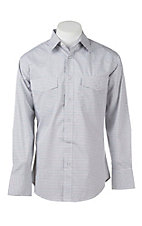 Wrangler Men's Brown and White Plaid L/S Western Snap Shirt