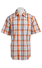 Wrangler Men's Wrinkle Resist Plaid S/S Western Shirt MWR318MX- Big & Talls