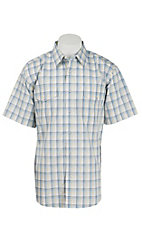 Wrangler Men's Wrinkle Resist Plaid S/S Western Shirt MWR328M