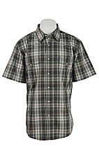 Wrangler Men's Wrinkle Resist Plaid S/S Western Shirt MWR329M