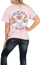 Girlie Girl Originals Women's Light Pink My Chicks T-Shirt