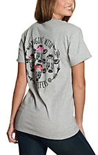 Girlie Girl Originals Women's Sport Grey Hangin' With My Heifers Short Sleeve Tee