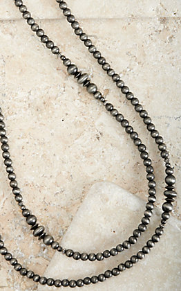 West & Co Silver Faux Navajo Pearl Long Layering Necklace