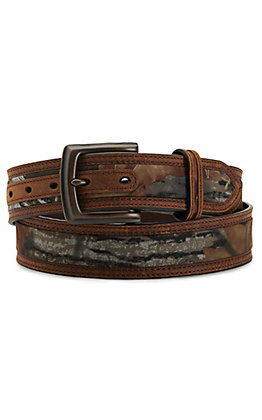 Nocona Men's Brown with Mossy Oak Inlay Belt