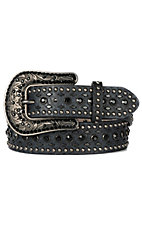 Nocona Women's Black Studded Western Belt