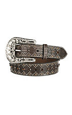 Nocona Women's Brown with Rhinestones Buckle Belt