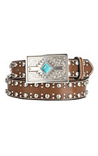 Nocona Women's Brown with Aztec Buckle Belt