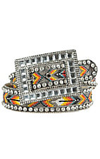Nocona Women's Beaded Inlay Rhinestone Western Belt  N3413297