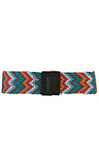 Nocona Women's Multi Chevron Beaded High Waist Stretch Belt