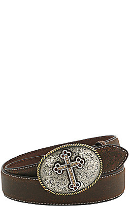 Nocona Women's Floral Cross Buckle
