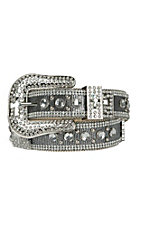 Nocona Women's Metallic Silver Rhinestone Cross Western Belt N3495001