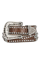 Blazin Roxx Women's Scallop Crystal Cross Concho Western Belt