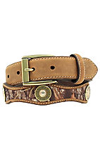 Nocona Children's Mossy Oak Printed Leather Belt