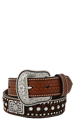 Nocona Children's Rhinestone and Hair on Calf Belt