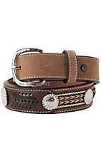 Nocona Children's Bay Brown Leather Western Applique Belt