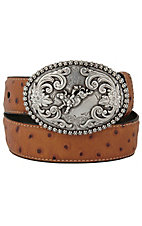 Nocona Children's Tan Ostrich Print Belt