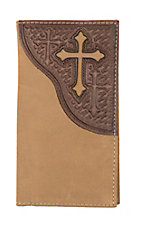 Nocona Roughout Cross Rodeo Wallet