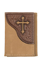 Nocona Roughout Cross Trifold Wallet
