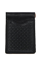 Nocona Black Embossed Slim Fold Money Clip Wallet