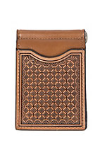 Nocona Natural Embossed Slim Fold Money Clip Wallet