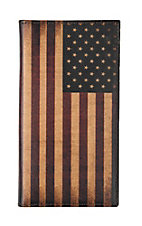 Nocona Vintage American Flag Rodeo Wallet / Checkbook Cover