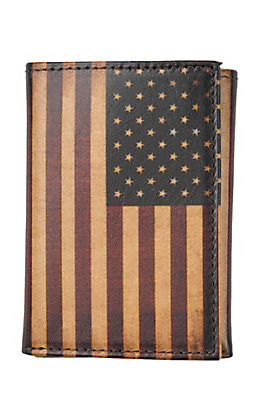 Nocona Vintage American Flag Rodeo Trifold Wallet