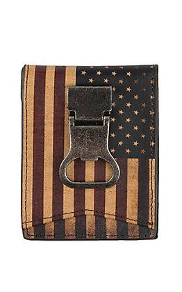 Nocona Vintage American Flat BiFold Money Clip Wallet