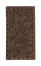 Nocona Chocolate Filigree with Chocolate Underlay Rodeo Wallet