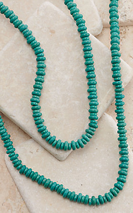 West & Co Turquoise Rondel Beaded Necklace
