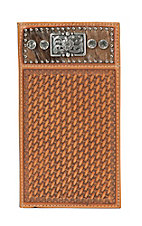 Nocona Clear Stone Natural Basket Weave Wallet