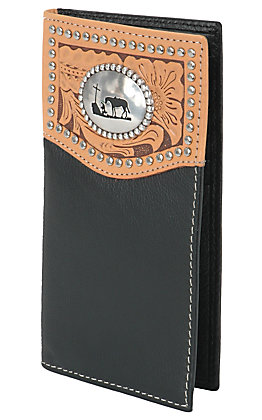 Nocona Black Rodeo Wallet/Checkbook Cover N5431401