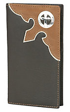 Nocona Brown  Rodeo Wallet/Checkbook Cover N5440202