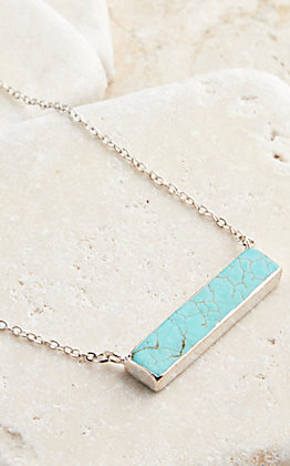 West & Co. Silver and Turquoise Necklace